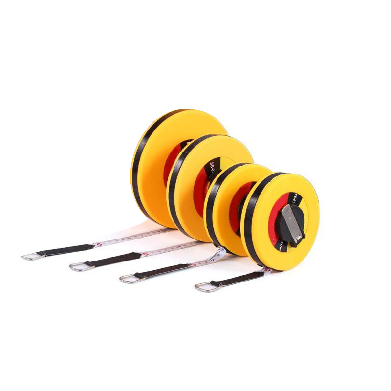 High Precision Retractable Ruler Measure Tape Measuring Tool For Engineer Carpenter Fiber Size 10m 15m 20m 30m Woodworking Tools