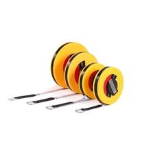 High Precision Retractable Ruler Measure Tape Measuring Tool for Engineer Carpenter Fiber Size 10m 15m 20m 30m Woodworking Tools недорого