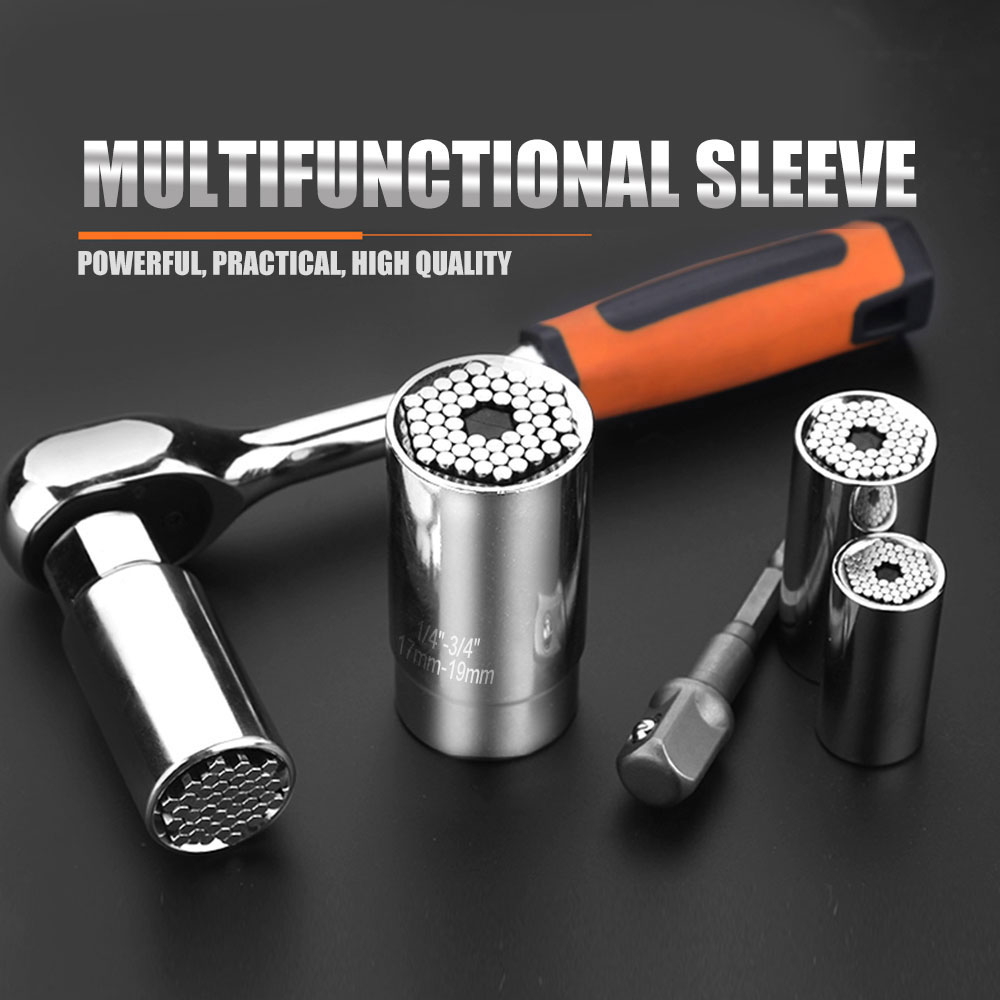 Universal Hand Operated Tools Metric Ratcheting Wrench Sets Surface Plating Anti-rust Workshop Equipment High Hardness Steel
