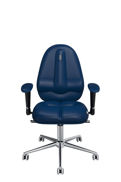 Office Chair KULIK SYSTEM CLASSIC Blue Computer Chair Relief And Comfort For The Back 5 Zones Control Spine