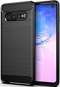 Funda Samsung Galaxy S 10 color negro (negro), serie carbon, caseport