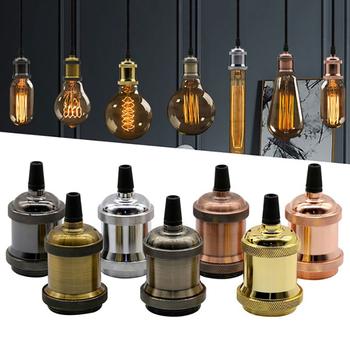 E27 gniazdo uchwyt podstawy lampy Led Vintage e27 Cap przemysłowe montaż 110 220V DIY aluminium światło Retro podstawa dekoracji oprawa tanie i dobre opinie CN (pochodzenie) 1 Year JCLA001 Z aluminium