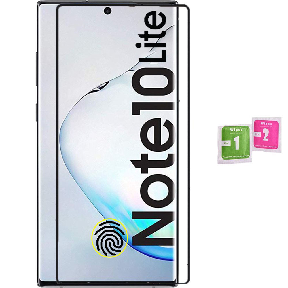 1x Tempered Glass Screen Protector Complete LCD For SAMSUNG GALAXY NOTE 10 LITE