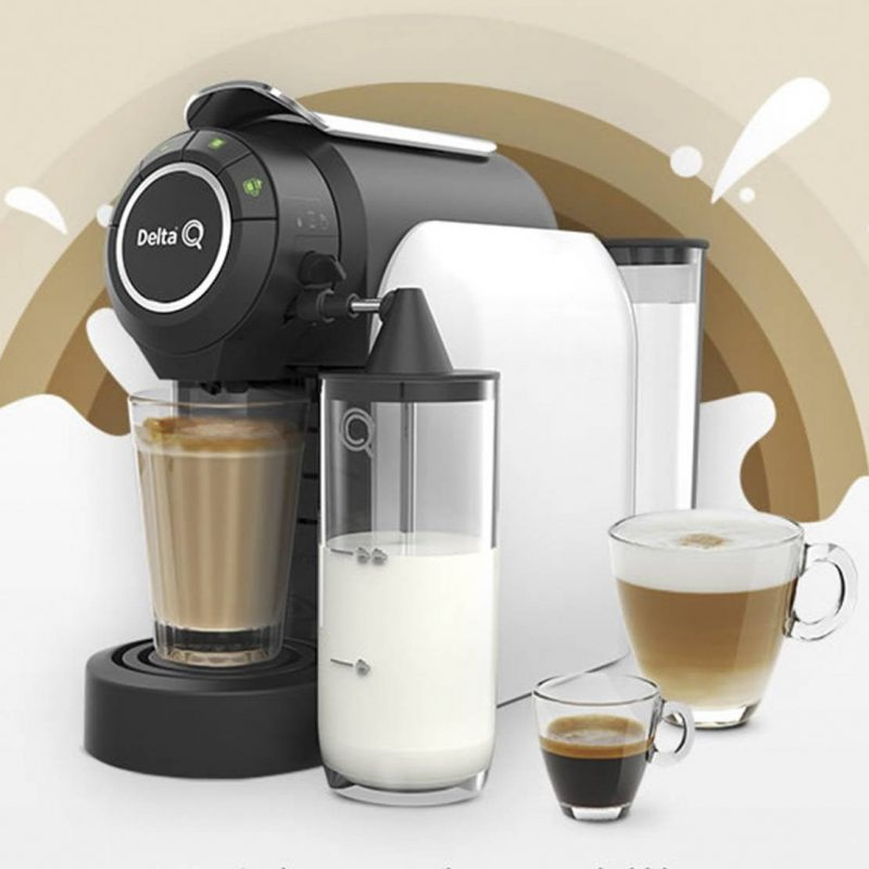 MILKQOOL EVOLUTION WHITE Delta Q|Capsule Coffee Machine| |  - title=