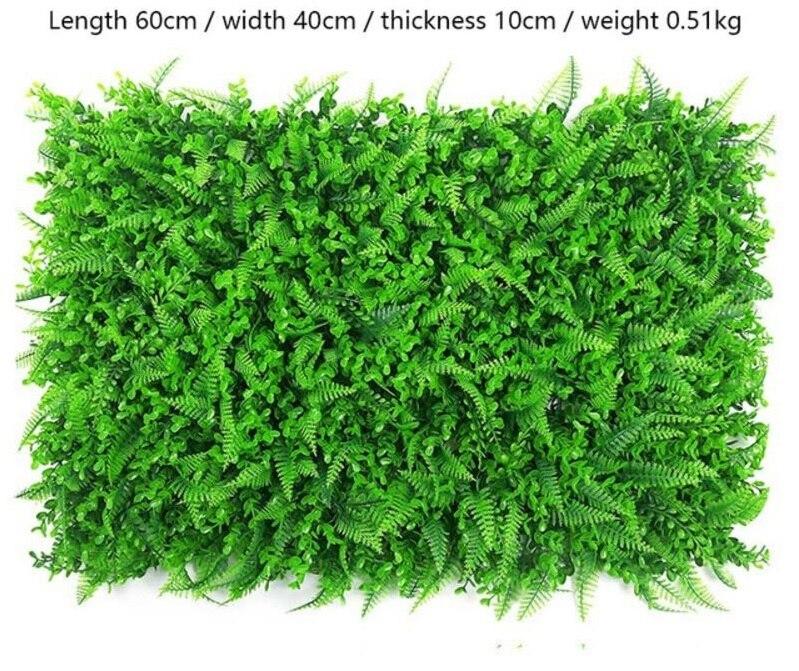 SZ Plancha 60x40CM Hierba Verde Artificial Exhibición de jardín Vertical Artificial para decoración del hogar