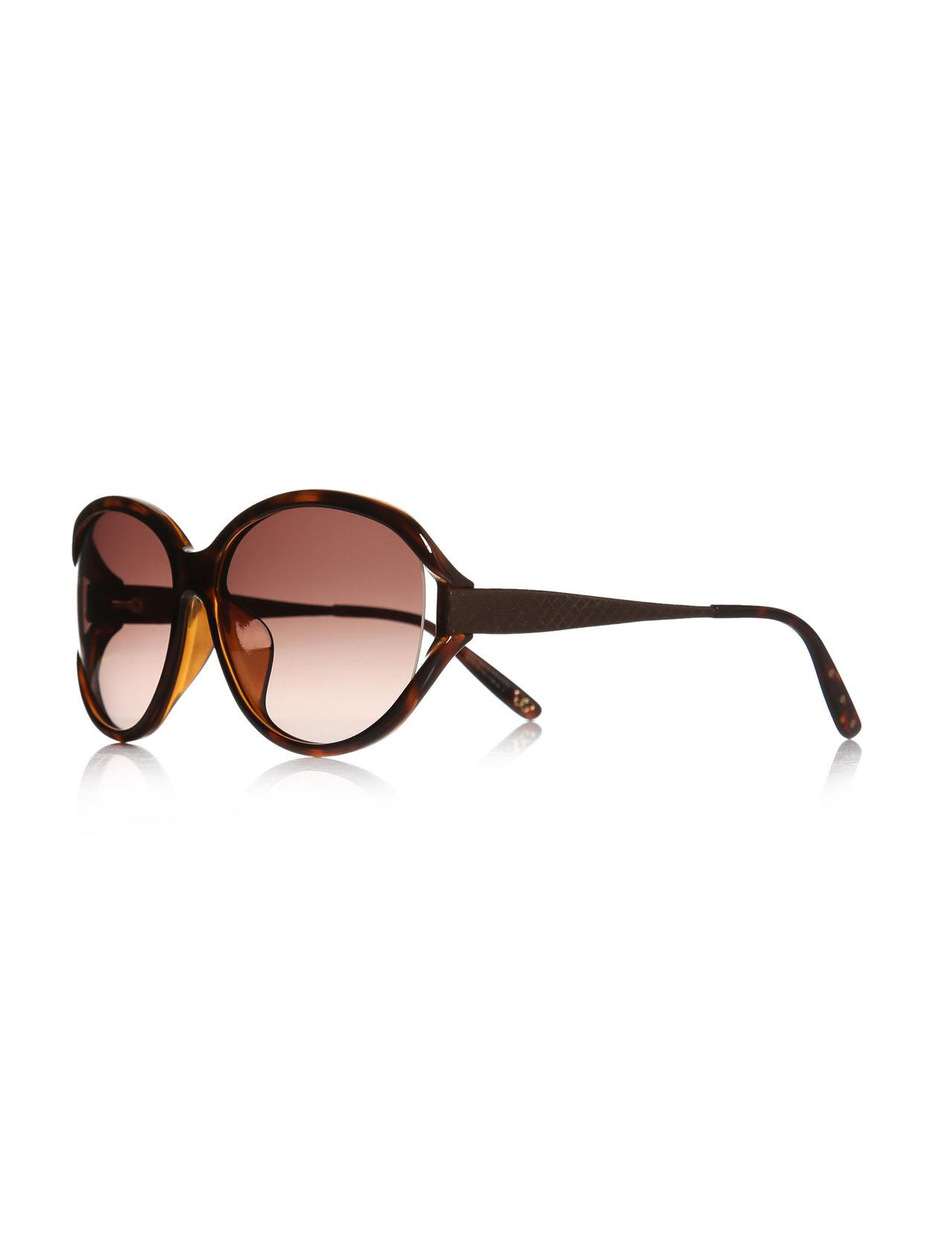 Women's sunglasses b.v 288/f/s cpc 63 v6 bone Brown organic oval aval 63-16-135 bottega veneta