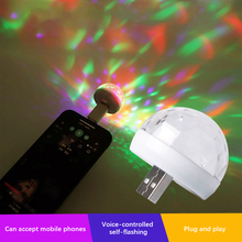 Mini USB LED Disco Stage Light Portable Family Party Magic Ball Colourful Laser Light Bar Club Stage Effect Lamp for Mobile Phone (Мини USB LED Дискотека Сцена Свет Портативный Семья Вечеринка Во