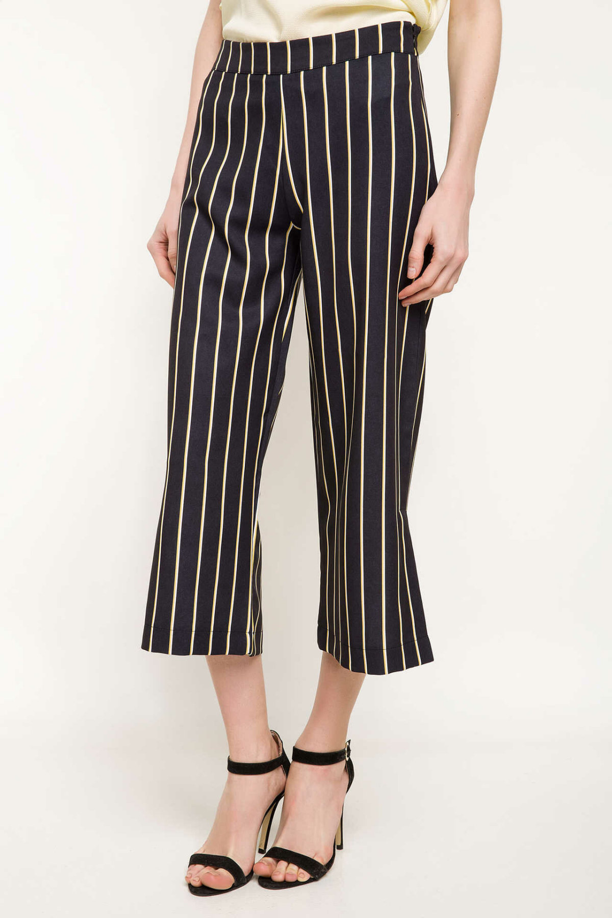 DeFacto Female Fashion Formal Striped Loose Trousers For Ladies Casual Pants Straight Comfort Long Pants Women's - J1122AZ18SP