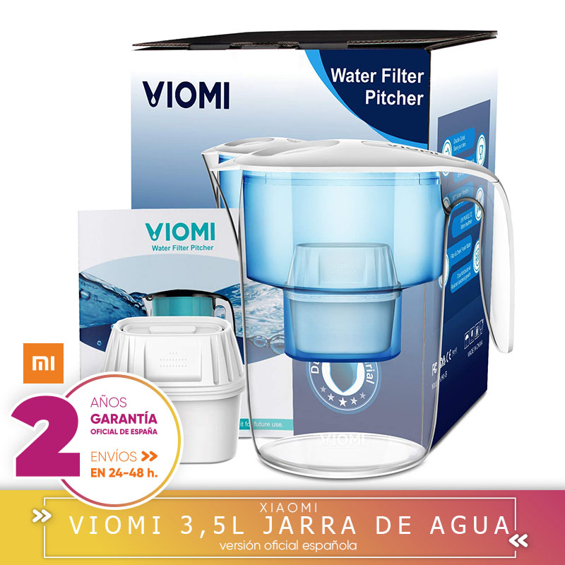 -Square Garantía-Xiaomi VIOMI 3.5L Pitcher Of Water Filtered With Filtro Super Intelligent Filter Standard Version