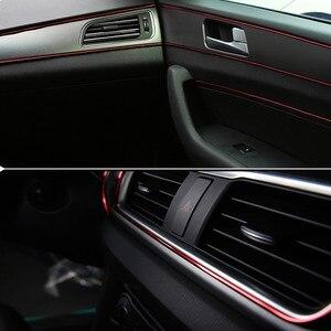 Image 3 - 5M dekoracyjne do wnętrza samochodu linia jasne listwy wykończenia paski dekoracyjne drzwi deska rozdzielcza dekoracja do wylotu powietrza akcesoria samochodowe