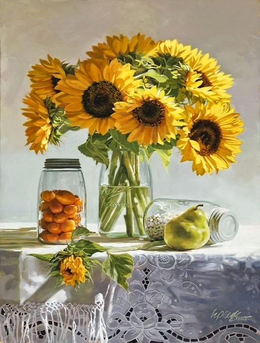 Painting On The Numbers Sunflowers, 40x50 Cm