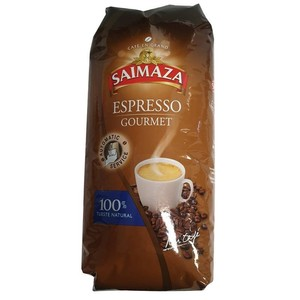 Gourmet Espresso, Saimaza Bean Coffee 1 kg 100% natural