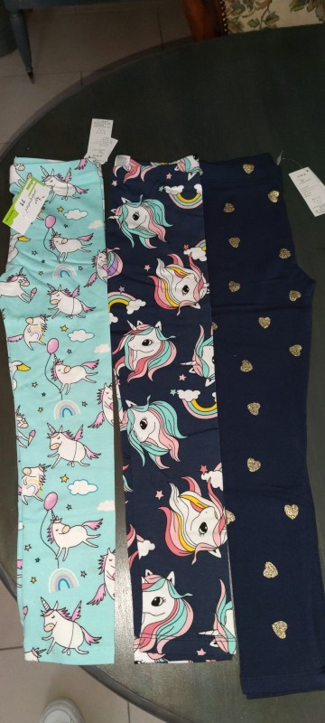 Children Rainbow Unicorn Pants Girls Leggings Children Leggings for Girls Cartoon Baby Girls Pants Kids Cotton Skinny Pants photo review
