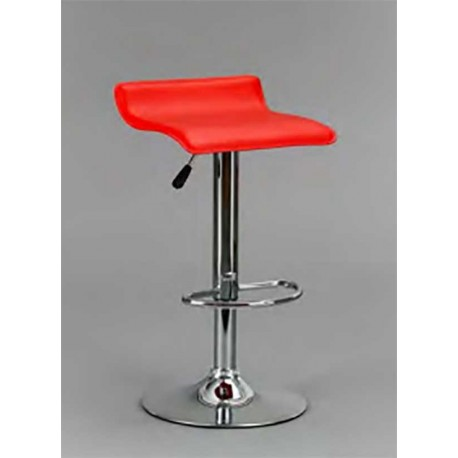 Stool Leatherette Seat In Various Colors.