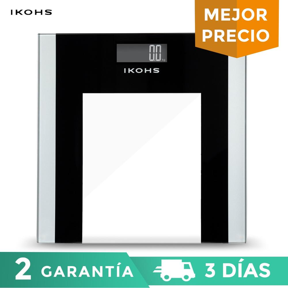 IKOHS ELEGANT WELLNESS Electronic Bathroom Scale Home with LCD Display Practical Supports 180kg Weight Easy to Use and Clean