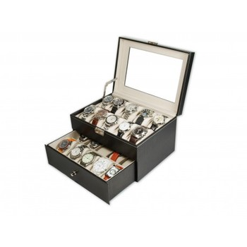 Watch case for 20 PU Leather Black
