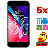 5x Protectors Screen Tempered Glass for for APPLE IPHONE 6/6 S 4 7 (Generico  not Full SEE INFO) KIT