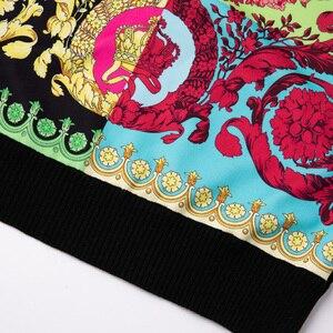 Image 4 - ถักผู้หญิงแฟชั่นผู้หญิงแขนยาว Elegant Floral พิมพ์เสื้อสบายๆสุภาพสตรีเสื้อขนสัตว์ด้านบนสไตล์หวานเสื้อกันหนาว