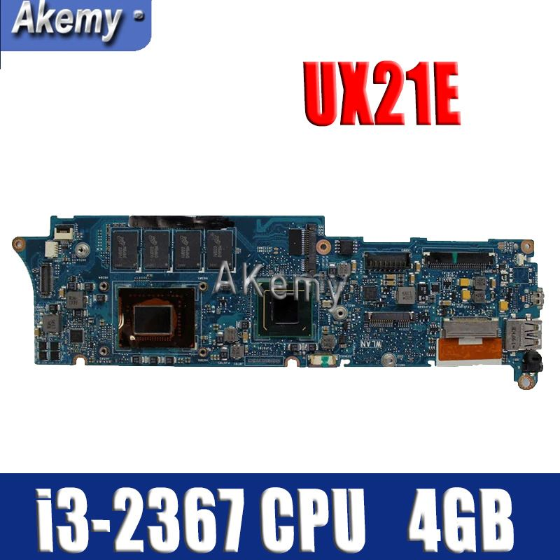 Amazoon  UX21E With I3-2367 CPU 4GB RAM Mainboard For ASUS UX21 UX21E Laptop Motherboard 60-N93MB2B00 100% Tested Working