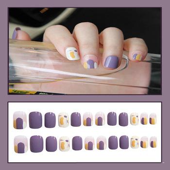 Sztuczne paznokcie naklejka do paznokci pełna okładka sztuczne wzory sztuczne paznokcie poręczne proste modne sztuczne paznokcie paznokcie sztuka narzędzia do paznokci paznokci tanie i dobre opinie CN (pochodzenie) Palec False Nail Tips Sticker Pełne końcówki paznokci