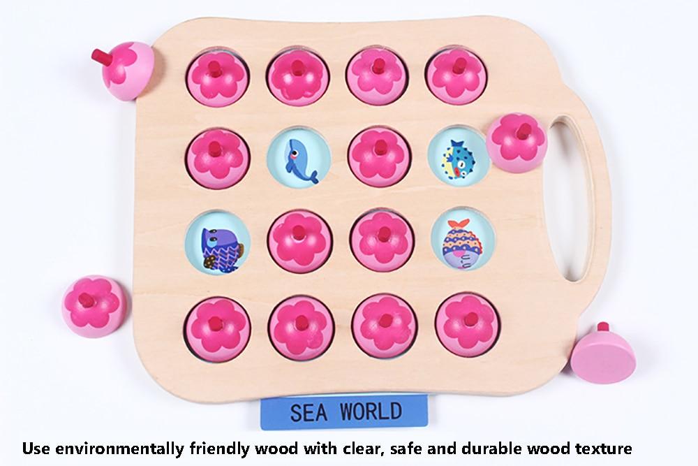 Crianças formação memória quebra-cabeça xadrez jogo de
