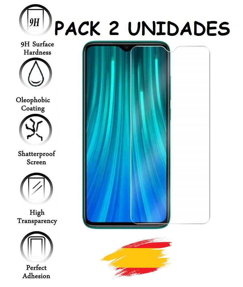 2X Protector For XIAOMI Note Redmi 8 PRO Tempered Glass Crystal Shockproof 9 H, 2 Units