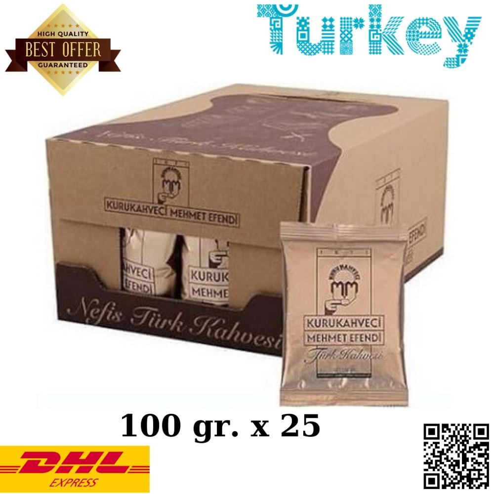 Turkish Coffee Mehmet Efendi, 100gr X 25, Grounded Turkish Coffee