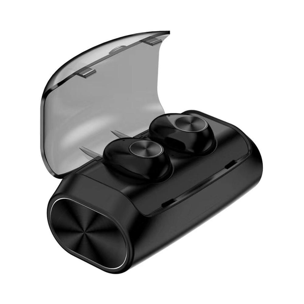 Black V6 TWS Bluetooth Headset 5.0 Wireless Sports Earphone With Charging Case Hands-free Portable Stereo Earbuds Easy To Carry
