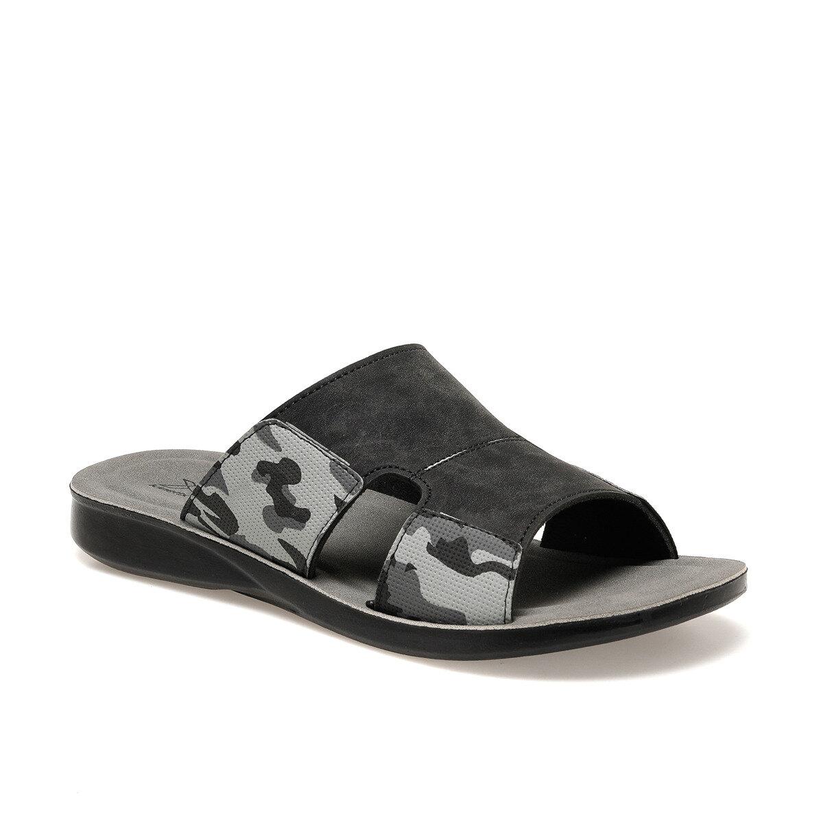 FLO Black Men Slippers Male Sandal For Men Feet Foot Massager Shoes  Casual Summer Male Chaussures KINETIX RESTON