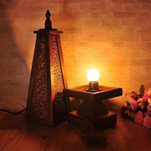 Asie du sud-est thaïlande Style rétro bambou/lampe de Table en bois Restaurant chambre salon décoration lumière livraison gratuite