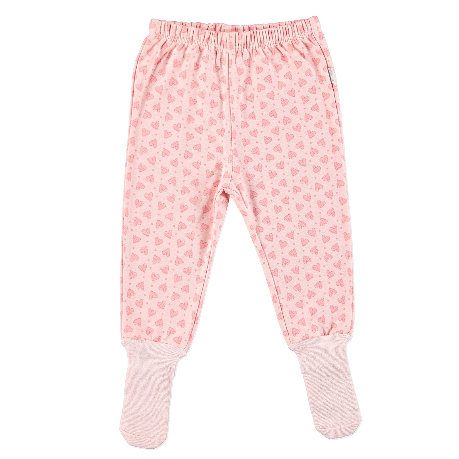 Ebebek Premini Heart Organic Baby Footed Trousers