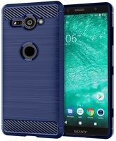Case Sony Xperia XZ2 Compact color blue (blue), carbon series, caseport