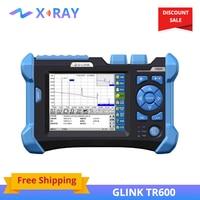 FTTH Project Tool SM OTDR 1310/1550 nm 32/30dB GLINK TR600 Fiber Optic OTDR with 10mw VFL,