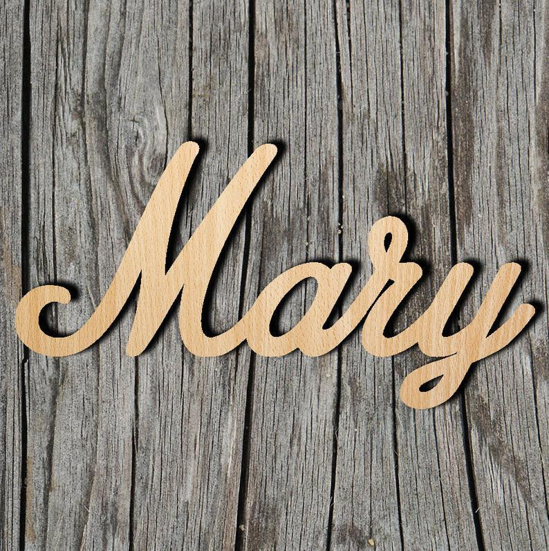 Laser Cut Name Sign - Custom Name - Unfinished Laser Cut