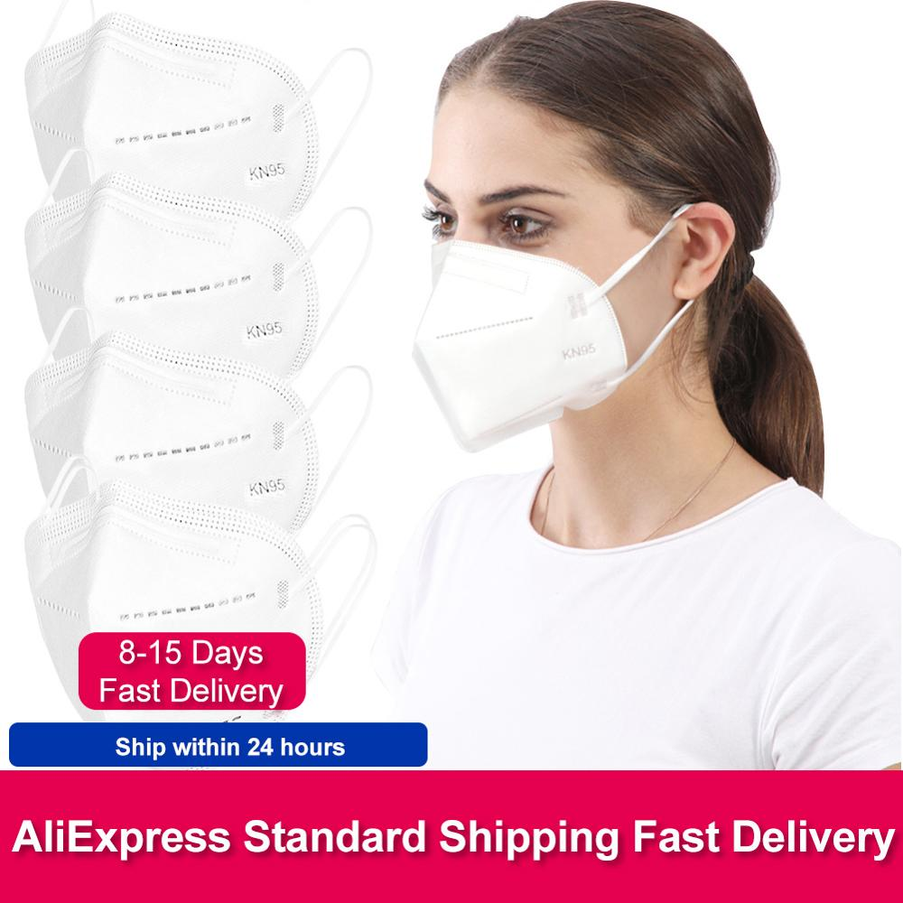 In Stock Mask Reusable Mouth Face Masks Anti Dust Anti-fog Protective Safety 4 Layer Ear Loop Mask Fast Delivery