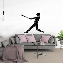 Baseball Softball Player Silhouette Sports Wall Sticker Decal Decor Design A0079