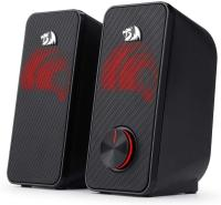 Redragon GS500 Stentor PC Gaming Speaker, 2.0 Channel Stereo Desktop Computer Speaker with Red Backlight and Quality Bass