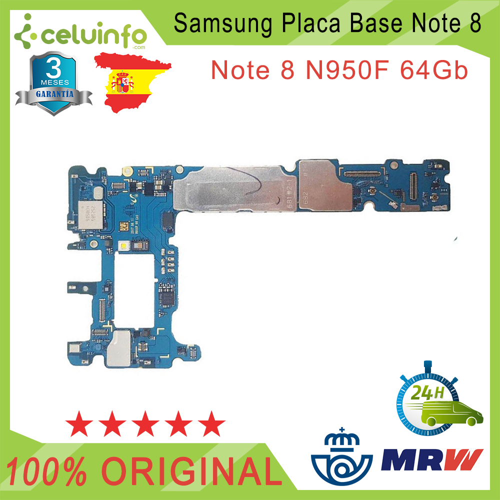 Original <font><b>Motherboard</b></font> free <font><b>Samsung</b></font> <font><b>Galaxy</b></font> <font><b>Note</b></font> <font><b>8</b></font> N950F 64Gb Recovered AAAAA Quality Shipping from Spain image