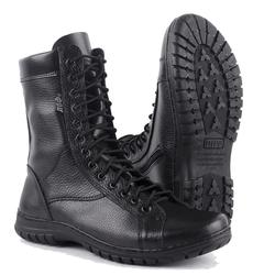 Semiseason, Botines negros de cuero genuino con cordones, botas militares planas para hombre, zapatos desérticos, botas militares planas 0054/1 WA