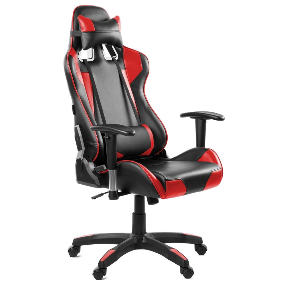 Mc Haus - Silla Oficina Gaming Sillon Despacho Escritorio Reclinable Giratoria Rojo