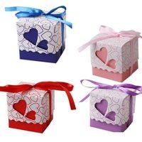 Gift packaging, box, Bonbonniere with heart, love, 5 X5 cm. x3 PCs
