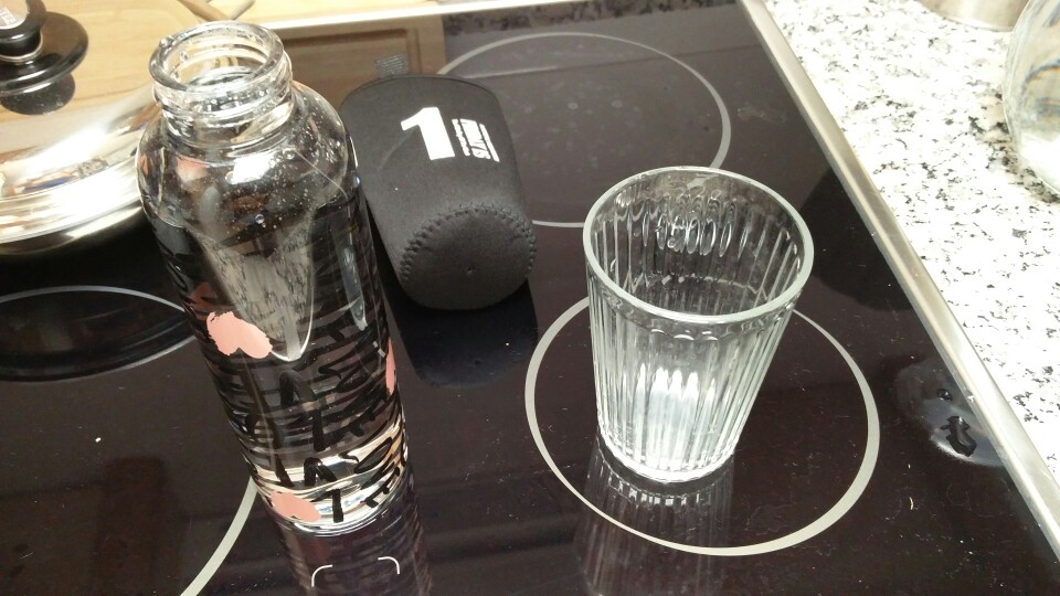 AIWILL New Arrival Fashion creative 450 500ml glass water bottle glass beautiful gift women water bottles sport outdoor-in Water Bottles from Home & Garden on AliExpress