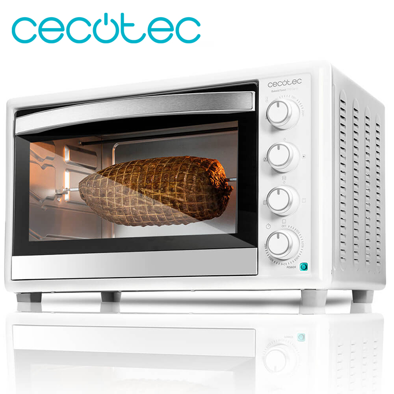 Cecotec White Convection Oven Electric Multifunction Tabletop 790 Gyro 12 Ways of Cooking 46 Liters Capacity A Rotary Roaster