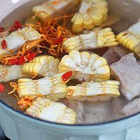 虫草花玉米排骨汤的做法图解4