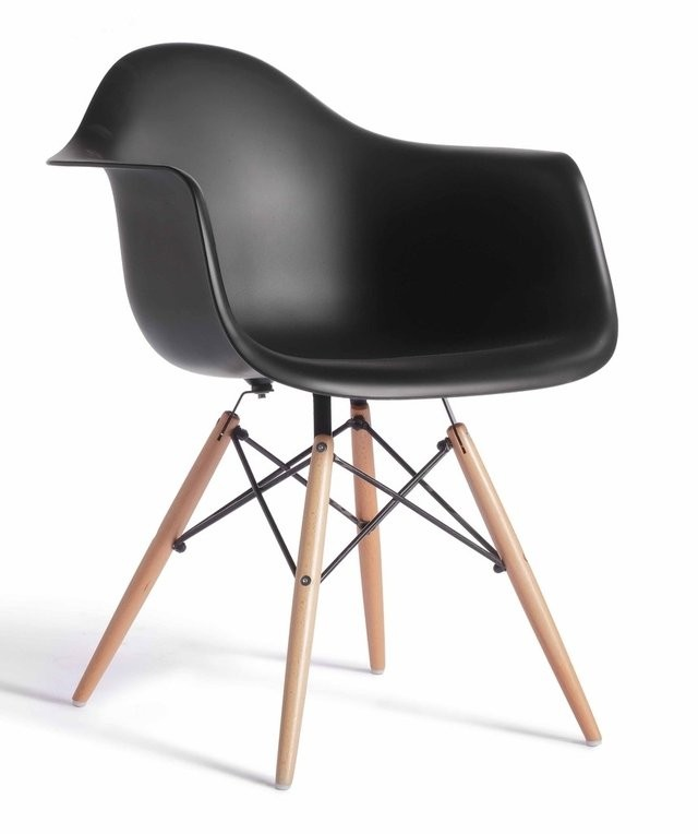Armchair TOWER PP, Wood, Black Polypropylene