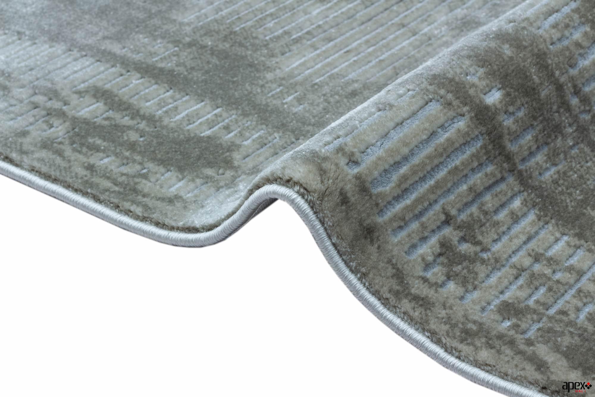 Apex Element 3 'x 10' Polypropylene Brown Runner Rug
