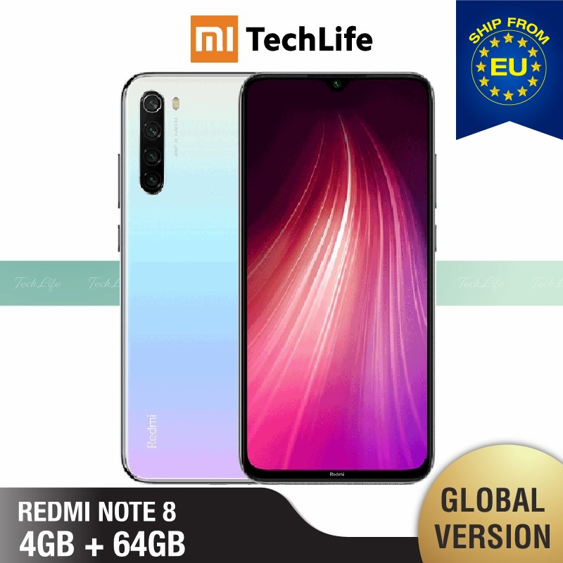Global Version Xiaomi Redmi Note 8 64GB ROM 4GB RAM (Brand New / Sealed) note864 Smartphone Mobile