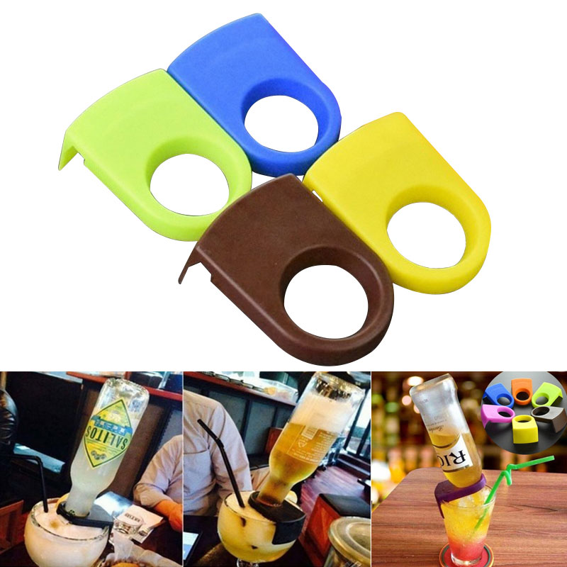 Bottle-Holder Drinking-Bar-Clip Glass-Cup Beer Cocktail Mini Portable On Pc 4pcs/Set