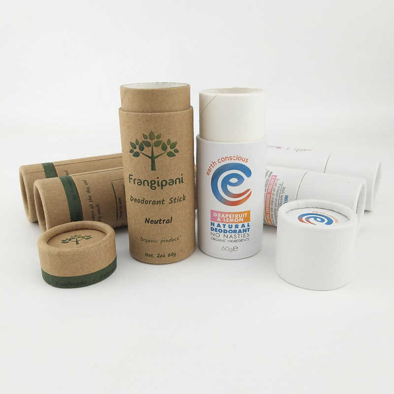 Eco Friendly Deodorante Tubo di Cartone 100% Biodegradabile Cosmetico Push Up Tubi logo stampato su ordinazione del commercio all'ingrosso 1000 pz/lotto
