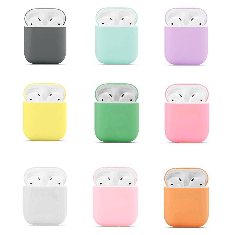 Case Apple Airpods 1 / Airpod 2 Multicolor Cases Protective Waterproof Silicone Wireless Bluetooth Headphone Case Multicolor